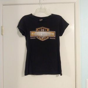 Harley Davidson Motor Cycles Fitted Tee